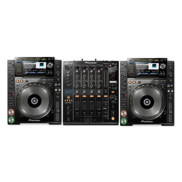 2 x Pioneer CDJ2000nxs + 1 x Pioneer DJM900nxs 1