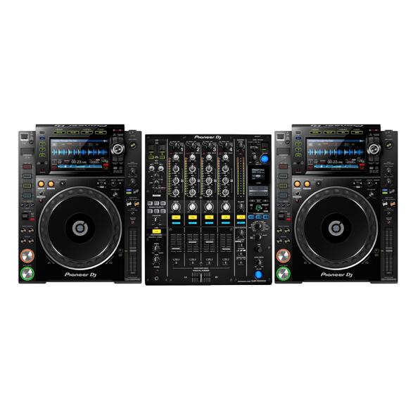 2 x Pioneer CDJ2000nxs2 + 1 x Pioneer DJM900nxs2 1