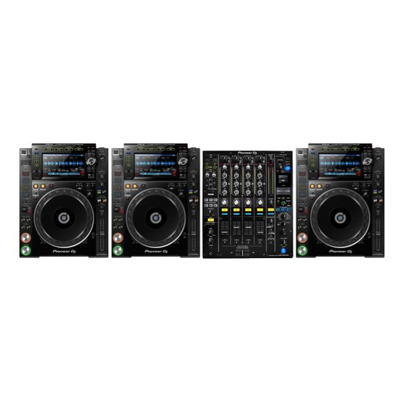 3 x Pioneer CDJ2000nxs2 + 1 x Pioneer DJM900nxs2 1