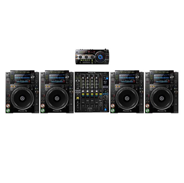 4 x Pioneer CDJ2000nxs2 + 1 x Pioneer DJM900nxs2 + 1 x Pioneer RMX1000-k 1