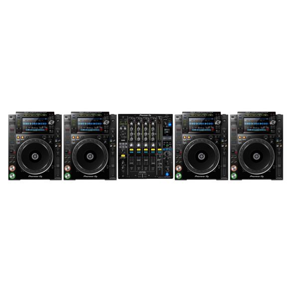 4 x Pioneer CDJ2000nxs2 + 1 x Pioneer DJM900nxs2 1