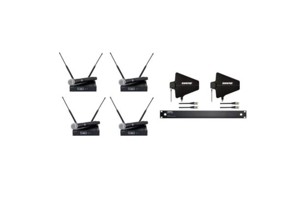 4 x Shure QLXD/SM58 + Shure UA844 + SWB 1