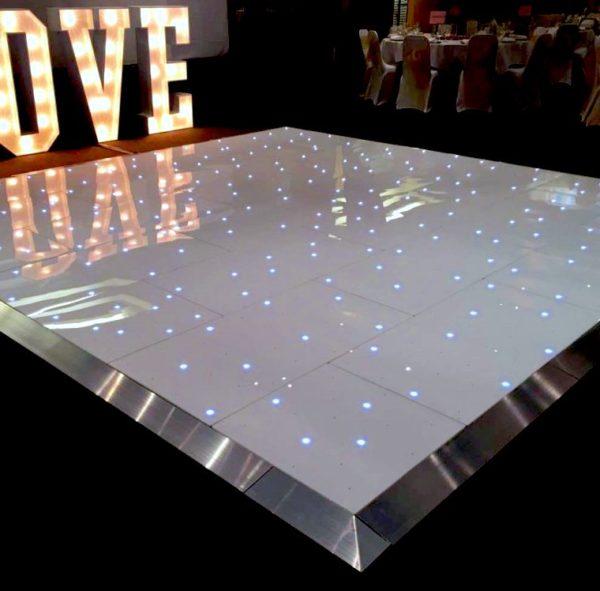 Pista de baile LED blanca 1
