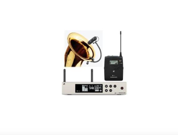 Sennheiser EW100 G4 + DPA4099 adaptador para saxofón 1