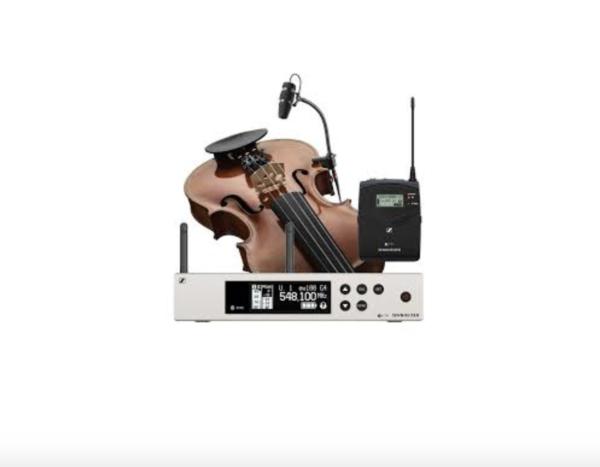 Sennheiser EW100 G4 + DPA4099 adaptador para violín 1