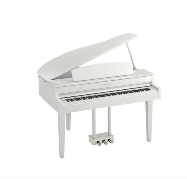 White Baby Grand Piano 1